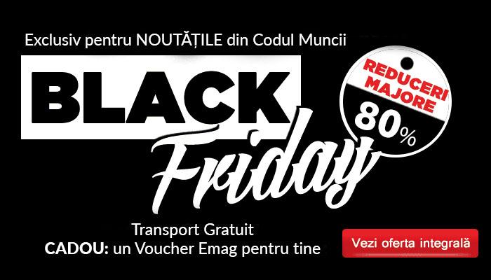 Black Friday 2020 Legislatia Muncii & HR: reduceri uriase si CADOU garantat. Atentie, stoc LIMITAT!