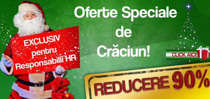 Oferta de Craciun pentru specialistii HR!