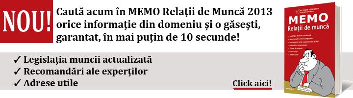 Memo Codul Muncii 2013