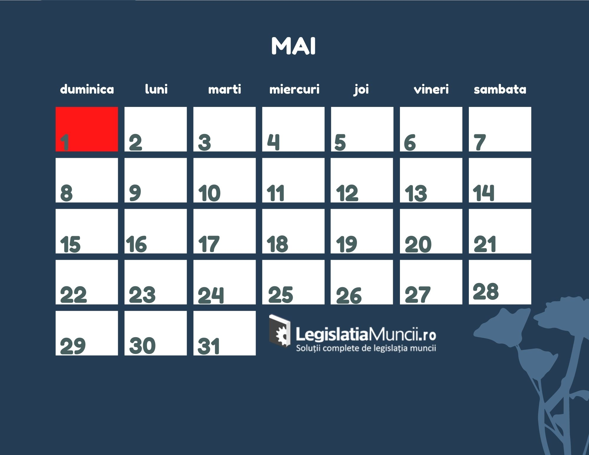 Sarbatori legale Mai 2022