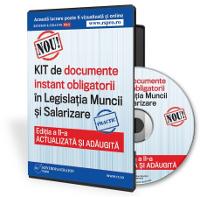 Documente instant obligatorii din  Legislatia Muncii si Salarizare